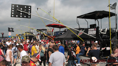 Photo: Pit road may look packed, but it's primarily this crowd occupying Jr's pit stall and those trying to get into Jr's pit stall.  Watch and see...