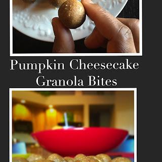 Pumpkin Cheesecake Granola Bites