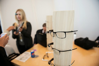 Photo: Attendees could try on Glass and get fitted.