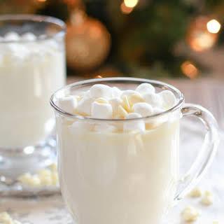 Homemade White Hot Chocolate.