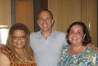 Photo: Kate and I with Mike Signorile during a NY visit.