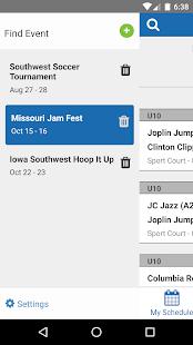 TeamSnap Tournaments - náhled