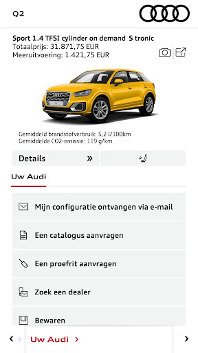 Audi Configurator BE screenshot 4