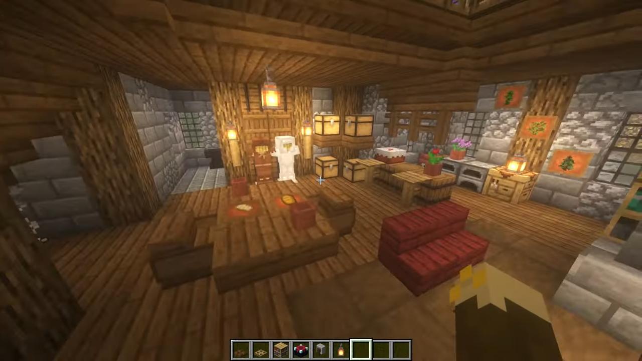 Wooden Stone  Minecraft Room Designs