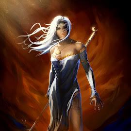 Denarii - Denarius (DNR) Bot Character by Carsen Klock - Illustration Sci Fi & Fantasy ( character, denarius, denarii, bitcoin, crypto )