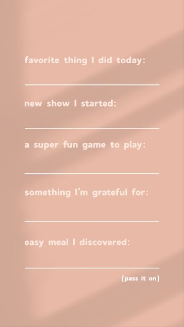 Daily Fill In the Blank - Facebook Story template