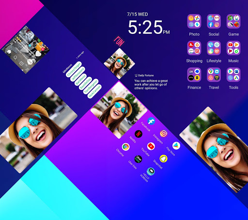 Wide Launcher - 2x wider, tile free decorating 1.3.0 screenshots 7