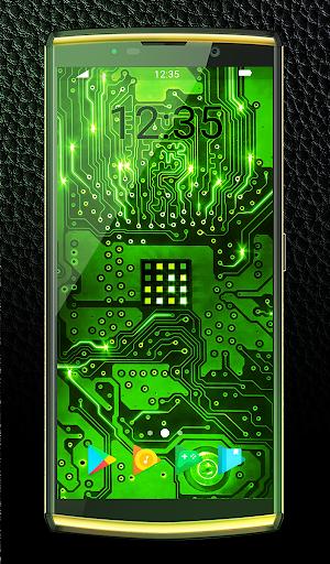 Green Light Animated Keyboard + Live Wallpaper screenshot 1