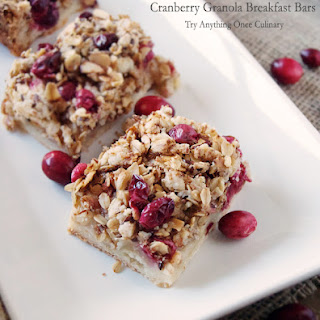 Cranberry Granola Breakfast Bars