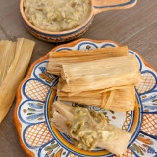 Cheese with Roasted Chile Tamales (Tamales de Rajas Con Queso).