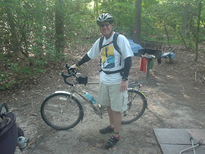 Photo: Sat morning of the Tour de Fat. Lightened up the bike - no panniers, only a backpack for the ride to the Navy Yards in DC