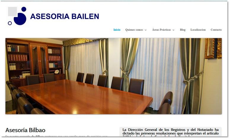 Ejemplo de diseño web de empresa de Bilbao