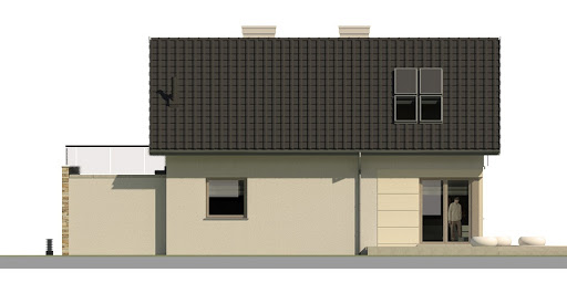 Dom przy Alabastrowej 3 - Elewacja tylna