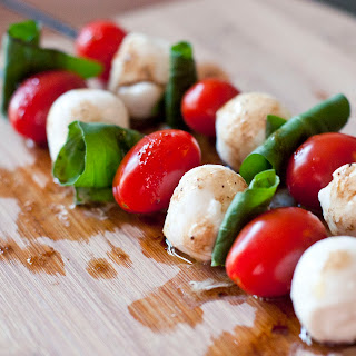 Caprese Skewered Salad.