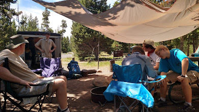 Photo: our 3rd camp site at Indian Creek just south of Mammoth Hot Springs