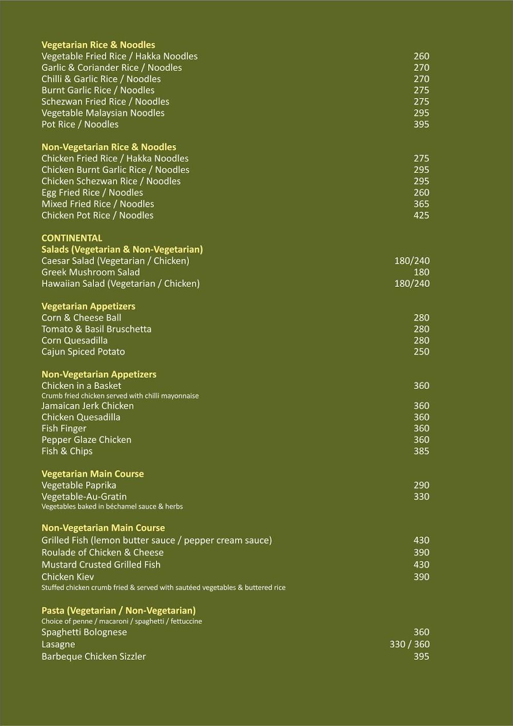 Olivia- GCC Hotel & Club menu 5