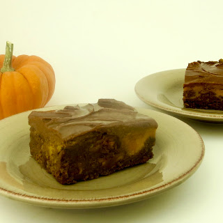 Paleo Pumpkin Swirl Brownies.