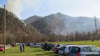 Photo: Požar v naravi v Lazah 9.3.2014 Foto: Bojan Rajšek/Delo