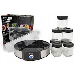 Aparat de preparat iaurt ADLER AD 4476, 20 W, Inox