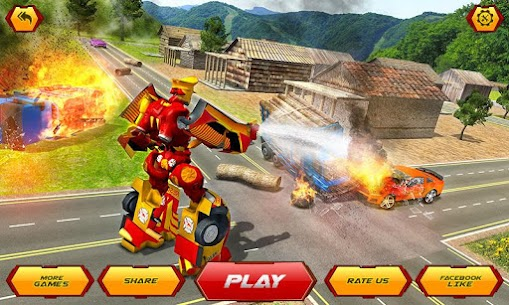 Firefighter Robot Transform Truck: Rescue Hero 1
