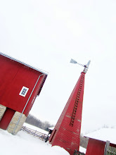 Photo: Red barn and windmill in the snow at Carriage Hill Metropark in Dayton, Ohio.