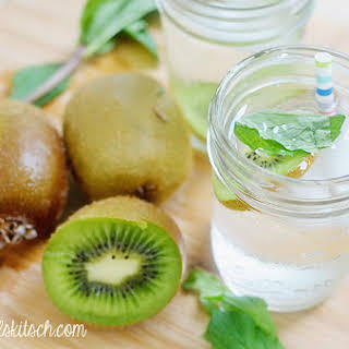 Kiwi Mint Infused Water.