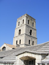 Photo: The simple square belfry.