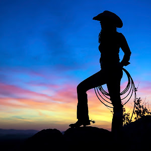 Cowgirl at Sunset 6x4.5.jpg