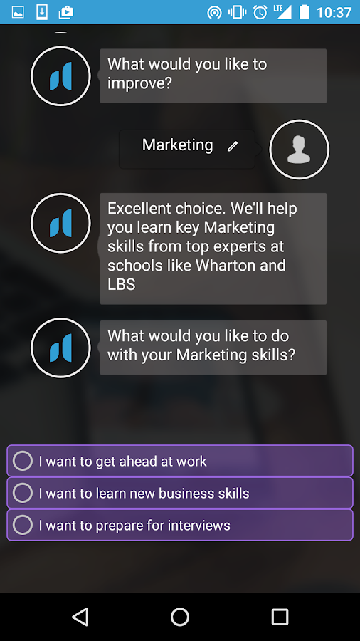 nhance: learn business skills- screenshot