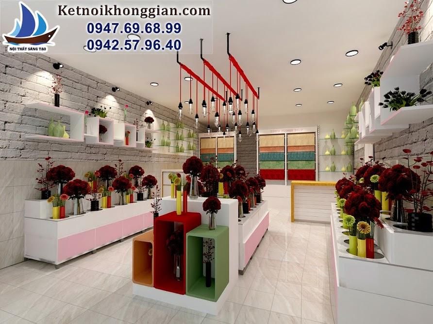 thiết kế cửa hàng hoa tigon trọn gói