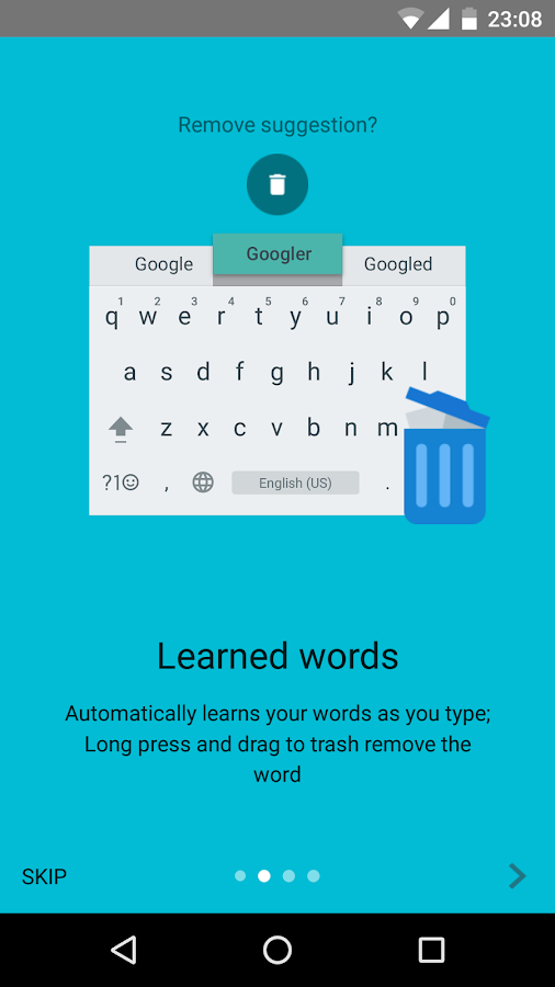 Screenshots of Google Keyboard for Android