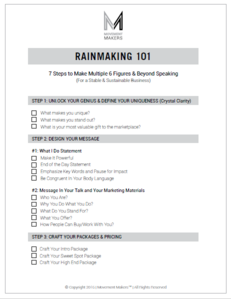 RAINMAKING 101 BLUEPRINT