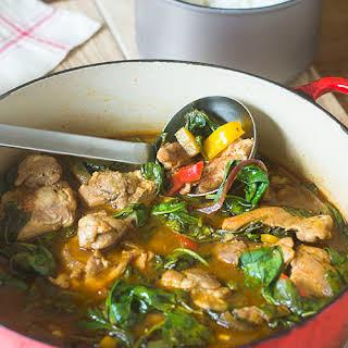 One Pot Kimchi Chicken Stew.