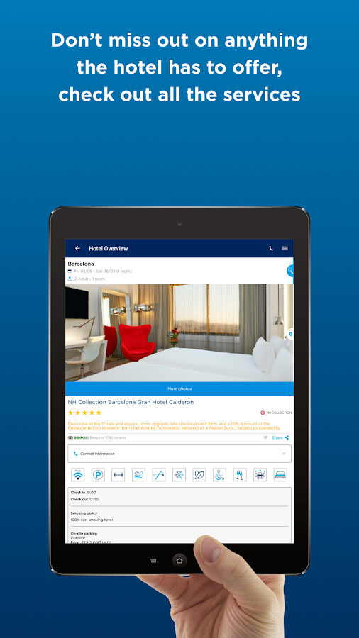 NH Hotel Group–Book your hotel- screenshot