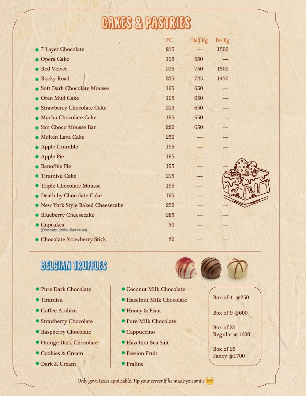 Chocolateria San Churro menu 6