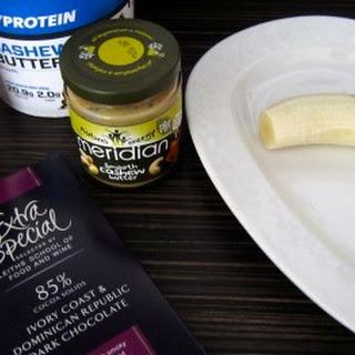 Frozen Banana & Nut Butter Chocolate Bites