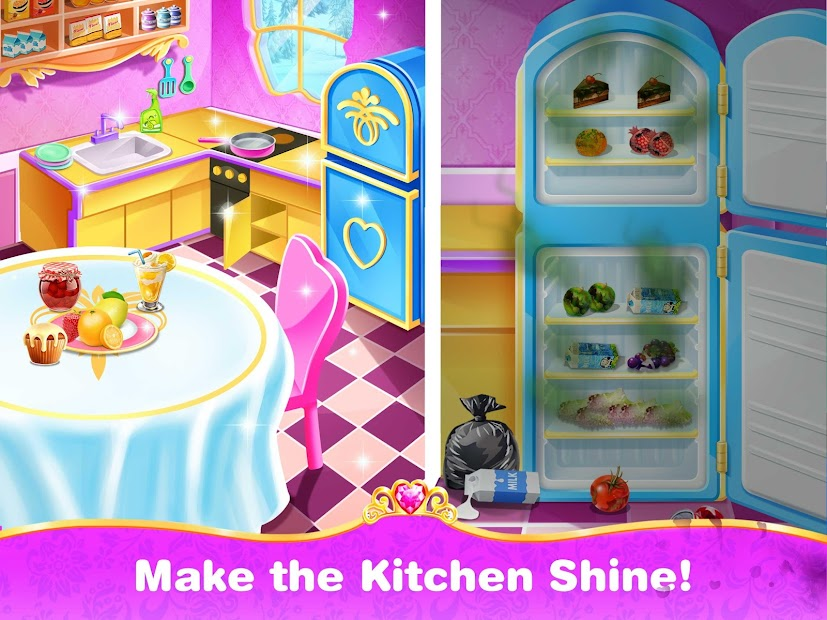 Princess Home Cleaning – House Clean Games screenshot 4