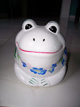 Photo: 1002-1 Frog bank.  Hand painted.  $25.00