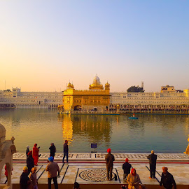 Worshipping  by Ankush Tarafdar - City,  Street & Park  Street Scenes ( #golderntemple #weather #refection #worshippers #temple )
