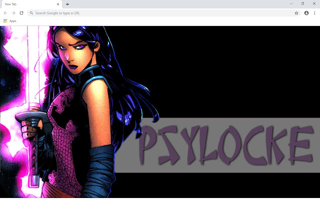 Psylocke New Tab & Wallpapers Collection
