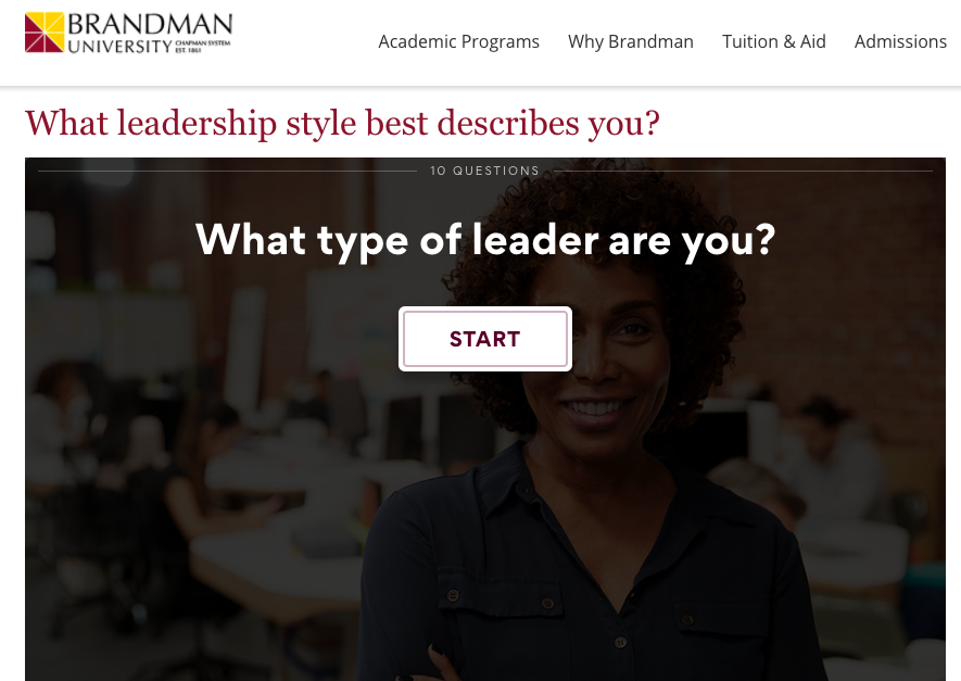 What leadership style best describes you quiz cover