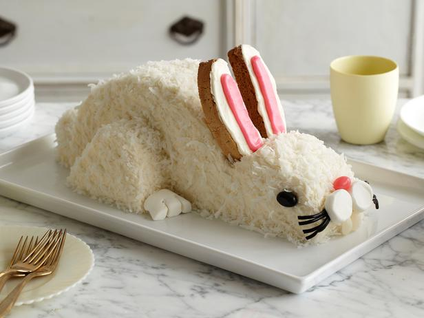 Photo: Easter Bunny Cake: Celebrate Easter with this cute coconut-topped bunny cake. It's easy to make with our step-by-step guide. Get this recipe >> http://ow.ly/a67kN