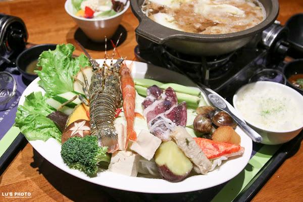 聚餐 人氣複合式餐廳新址!滿滿龍蝦海鮮味,棉花糖壽喜燒上桌啦~「綠色空間-和緯店」台南聚餐 台南火鍋 