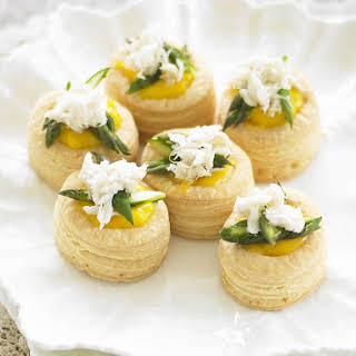 Crab and Asparagus Vol-au-Vents.