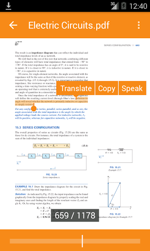 Book Reader with Translator