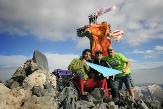 Photo: Pica d'Estats (3.143 metres). Ascensió el 19 de juliol de 2014  Joan Baptista Altadill (pare de C/F, LL/D i R/G) Ricard Torres ( ll/d, r/g, p/C, truc, cap i pare del Gaudí) Xevi Montes ( ll/d, r/g, p/C, truc, cap i pare del Gaudí)