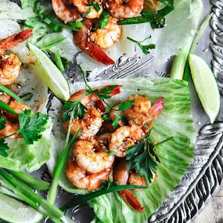 Cajun Shrimp Lettuce Wraps.