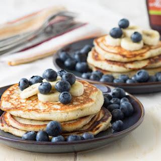 Vanilla Yogurt Pancakes with Poppy Seeds.