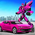 Power Robot Car Transform: Crime City Rescue Game icon