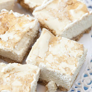 Less Added Sugar Salted Brown Sugar Cheesecake Bars.